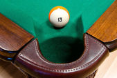 Billiard ball N thirteen — Stock Photo