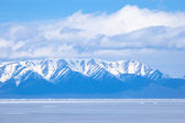 Blue Baikal mountains — Stock Photo