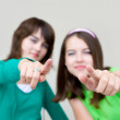 Stock Photo: Two young females