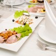 Banquet table — Stock Photo