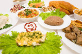 Lot of various dishes — Stock Photo