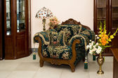 Armchair in baroque — Stock Photo