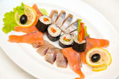 Rolls with fish — Stock Photo