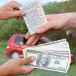 Illegal purchasing of driving license — Stock Photo
