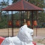 Stone lions head — Stock Photo #1425596