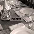Stock Photo: Restaurant setting