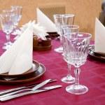 Restaurant laid table — Stock Photo #1526964