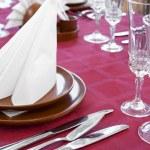 Restaurant laid table — Stock Photo #1536462