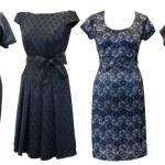 Black dresses set — Stock Photo