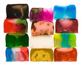 Set of handicraft soap bars — Stock Photo
