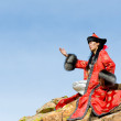 Stock Photo: Man in Mongolian costume