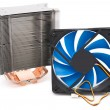 Powerful CPU cooler — Stock Photo
