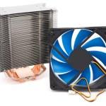 Powerful CPU cooler — Stock Photo