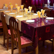 Stock Photo: Yellow claret coloured restaurant table