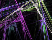 Fractal coloured crossed lines — Stock Photo