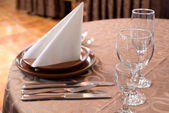 Restaurant laid table — Stock Photo