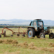 Stock Photo: Hay harvesting
