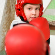 Young fighter boy — Foto Stock