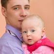 Dad and his baby — Stock Photo