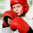 Young fighter boy — Stock Photo