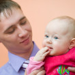 Dad and his baby — Stock Photo #2499972