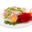 Boiled pork, clipping path. - Stock Photo