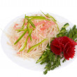 Chinese food. Raw potato salad. — Stock Photo