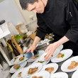 Chef at work - Foto Stock