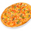 Pizza with mushrooms — Stock Photo