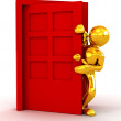 Royalty-Free Stock Photo: Entering the door