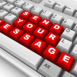 Keyboard. Send your message - Stock Photo