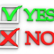 Royalty-Free Stock Photo: Yes or No. Questionnaire