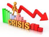 Adam şemasında. kriz — Stok fotoğraf