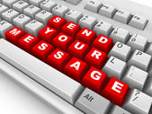 Keyboard. Send your message — Stock Photo
