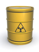 Barrel with sign Radiation — Stock Photo