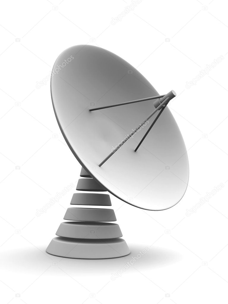 Satellite dish. 3d — Stock Photo #1406461