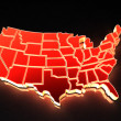 map of usa — Stock Photo #1410499