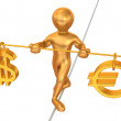 Balance of dollar and eur — Stock Photo