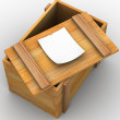 Stock Photo: Crate. 3d