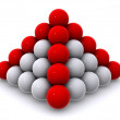 Pyramid from spheres — Stock Photo #1412604