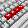 Stockfoto: Keyboard. Mail