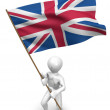 Men with flag. Great Britain — Stock Photo #1412866