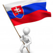Men with flag. Slovakia — Stock Photo