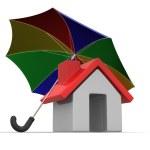 House and Umbrella — Stock Photo