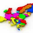Foto Stock: Map of europe