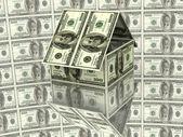 House from hundred dollars — Stock Photo