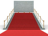 Stairs and bigboard. 3d — Stock Photo