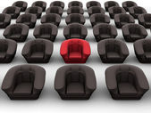 Armchairs. Leadership. 3d — Stock Photo