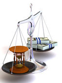 Balance von zeit und geld — Stockfoto