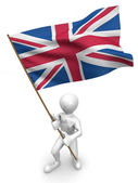 Men with flag. Great Britain — Stock Photo